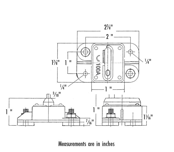 Heavy Duty Manual Reset Circuit Breaker