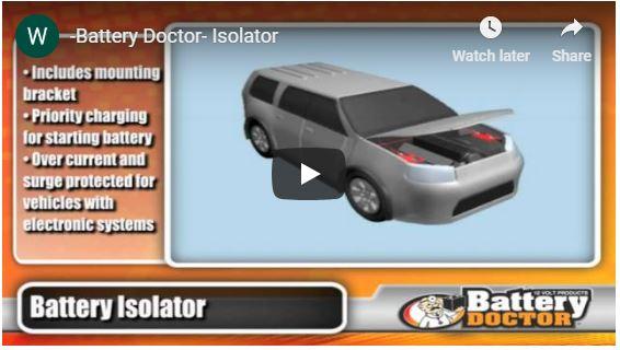 battery isolator kit features